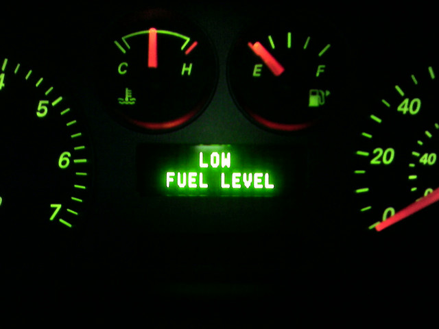 FUEL LEVEL LOW